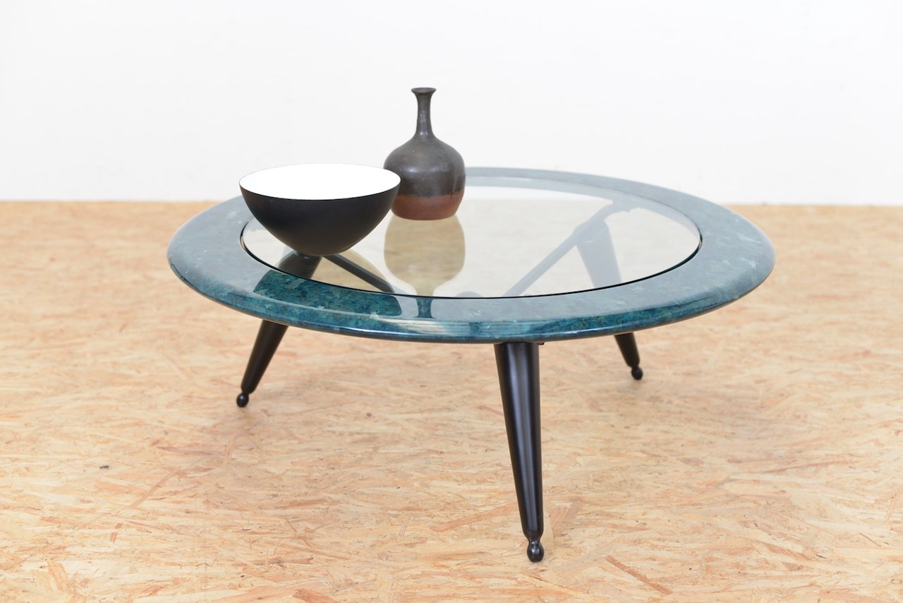 Vintage Marble Glass Coffee Table For Sale At Pamono