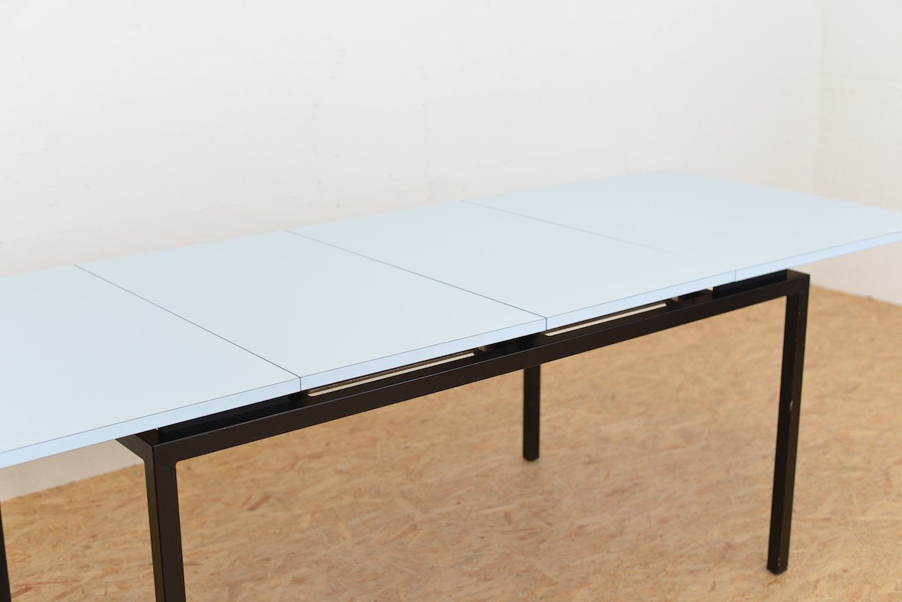 Mid century light blue extendable dining table for sale at pamono - Light blue dining table ...