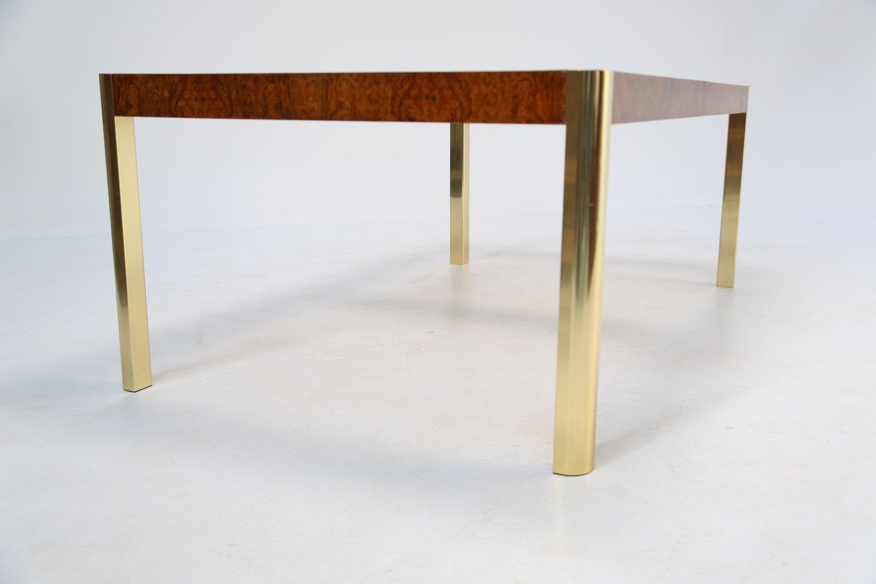 esstisch aus wurzelholz messing glas von century furniture 1970er bei pamono kaufen. Black Bedroom Furniture Sets. Home Design Ideas