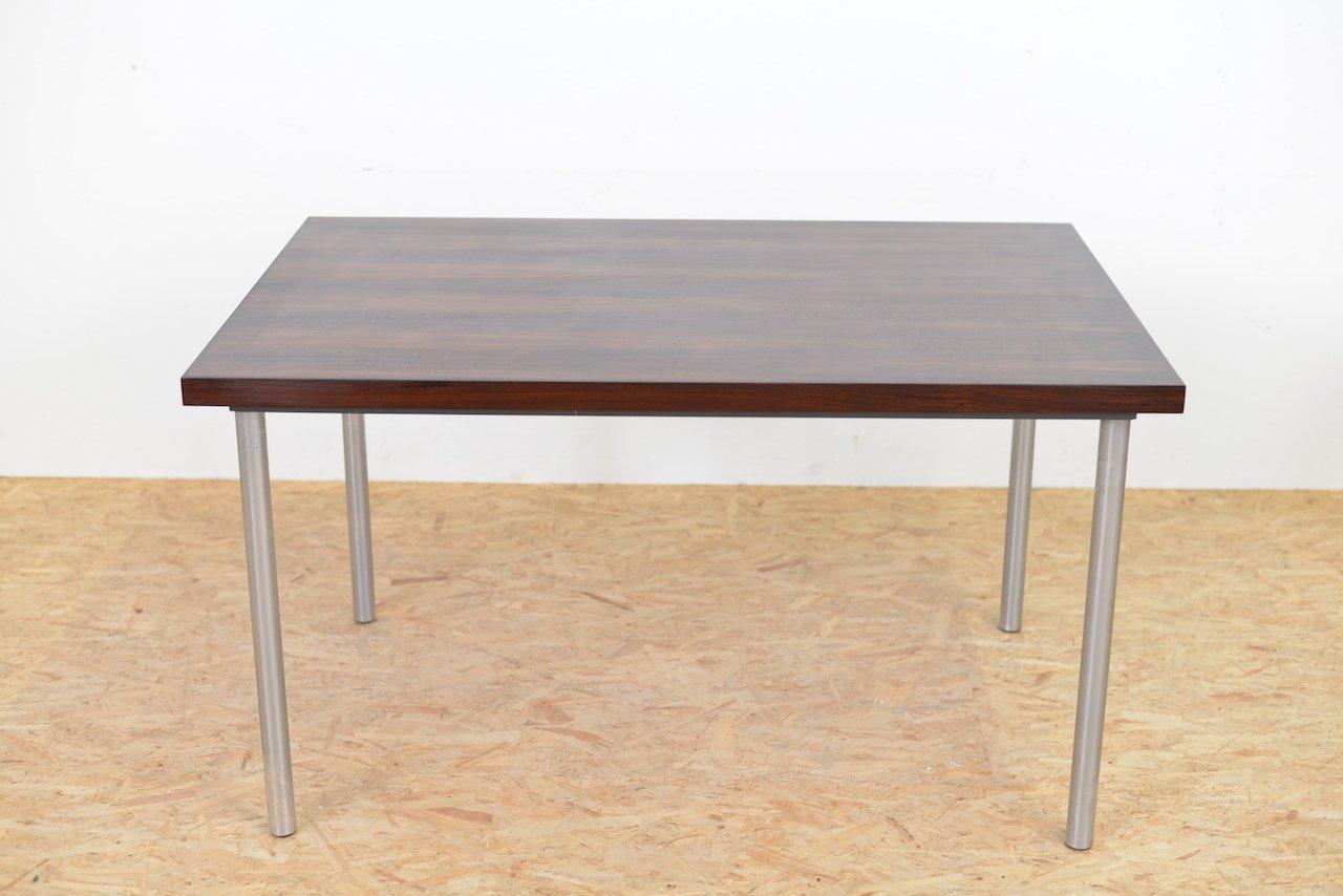 Mid century palisander tisch mit metallbeinen 1960er bei for Palisander tisch