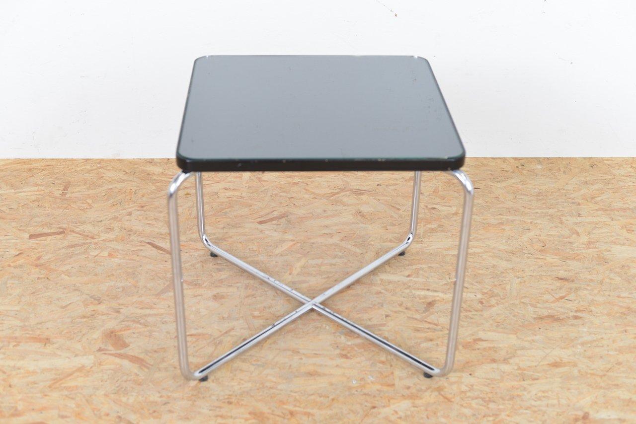 vintage beistelltisch aus glas und rohrstahl bei pamono kaufen. Black Bedroom Furniture Sets. Home Design Ideas