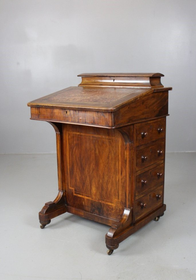 Antique victorian walnut davenport desk for sale at pamono for 80s furniture for sale