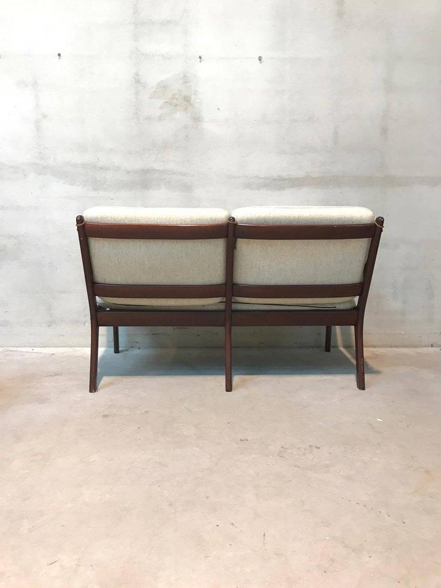 vintage zwei sitzer sofa von ole wanscher f r p jeppesens m belfabrik bei pamono kaufen. Black Bedroom Furniture Sets. Home Design Ideas