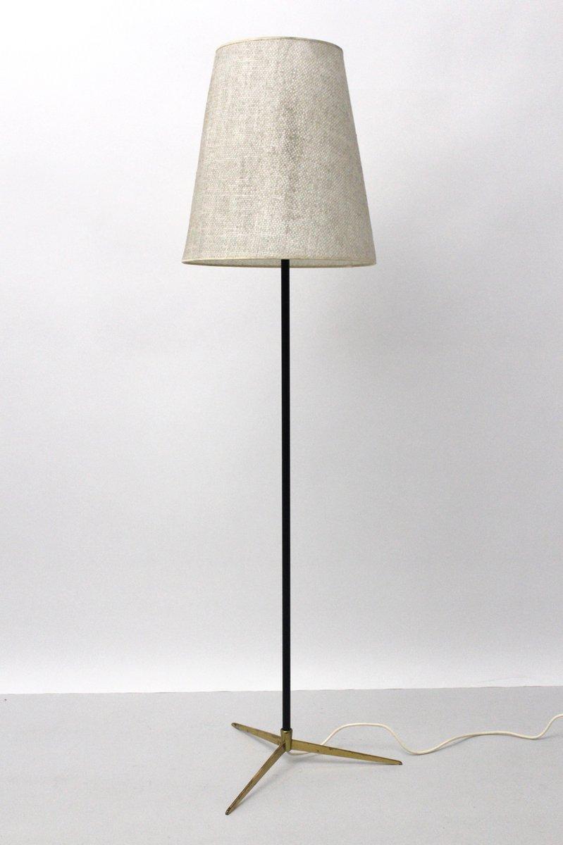 messing stehlampe von j t kalmar 1960er bei pamono kaufen. Black Bedroom Furniture Sets. Home Design Ideas