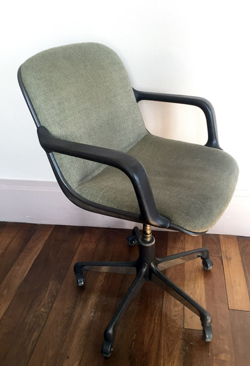 Vintage office chair by charles pollock for comforto for 1980s chair