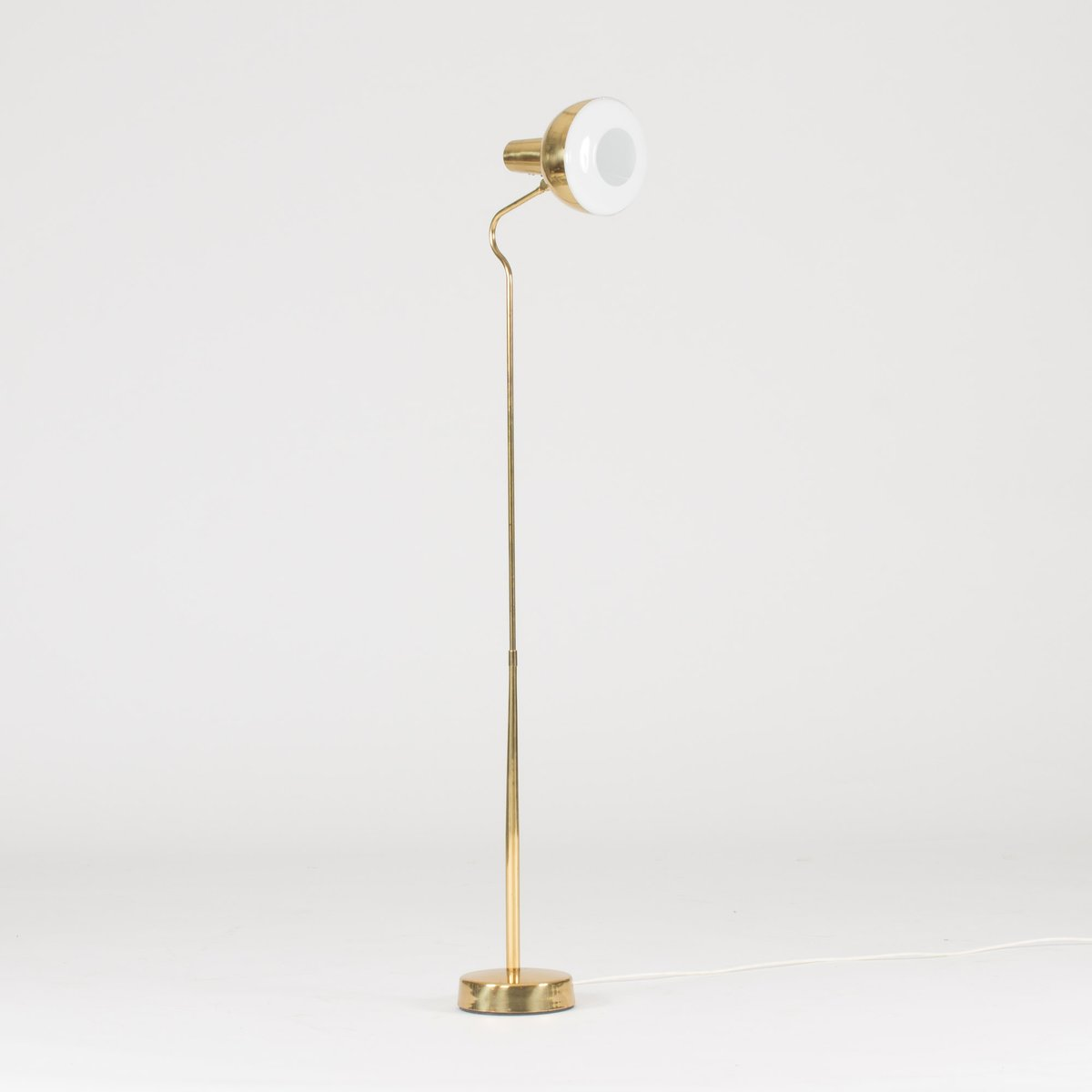 Vintage brass floor lamp from asea 1950s for sale at pamono for 1950 s brass floor lamp