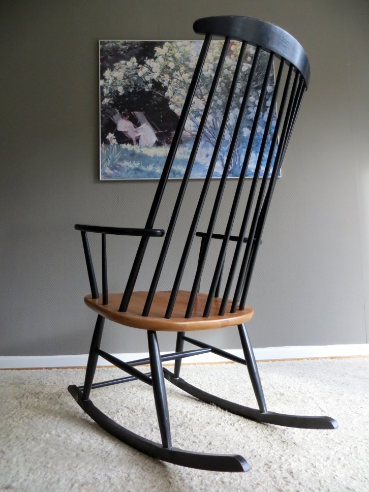 Mid-Century Scandinavian Rocking Chair, 1960s