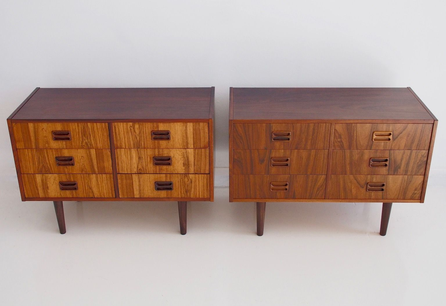 danish modern sideboards with six drawers s set of  for  - danish modern sideboards with six drawers s set of