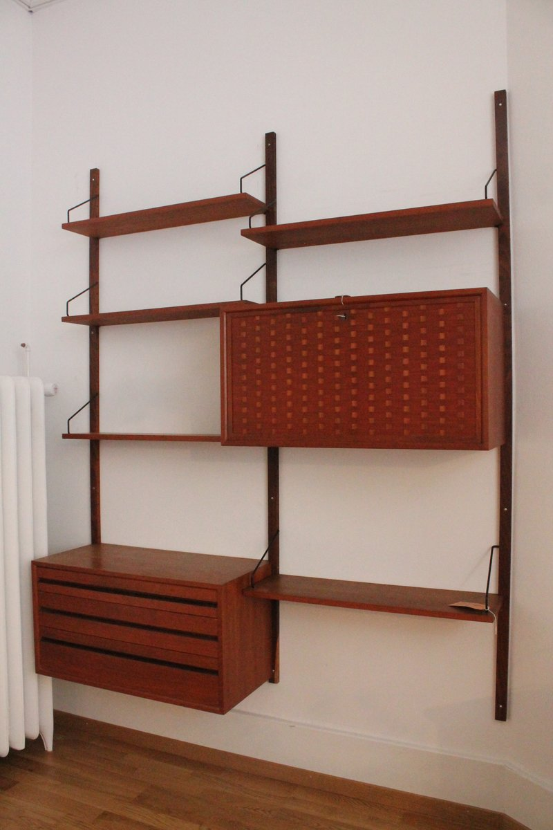 Modular teak wall shelf by poul cadovius for cado for sale at pamono modular teak wall shelf by poul cadovius for cado amipublicfo Image collections
