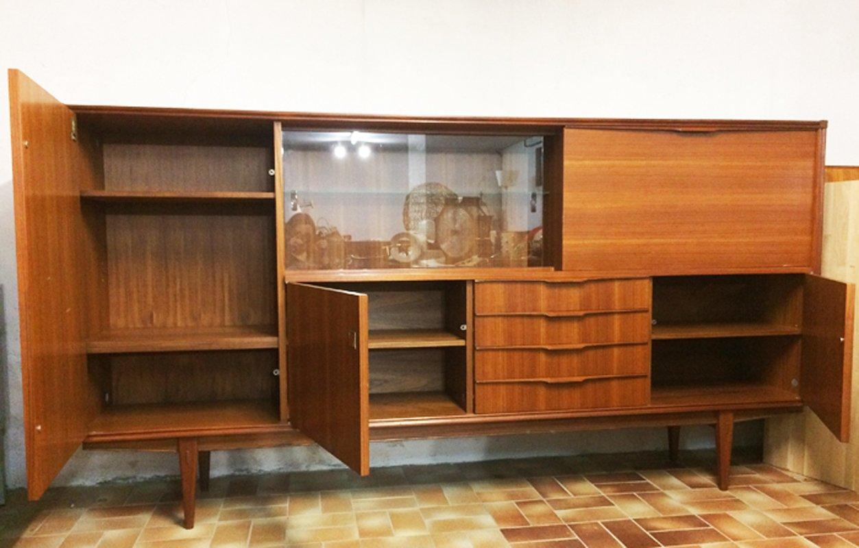 skandinavisches sideboard mit vitrine von aarn bei pamono. Black Bedroom Furniture Sets. Home Design Ideas