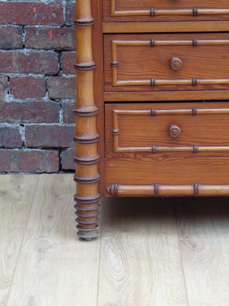 Commode tiroirs antique en faux bambou en vente sur pamono for Faux bambou