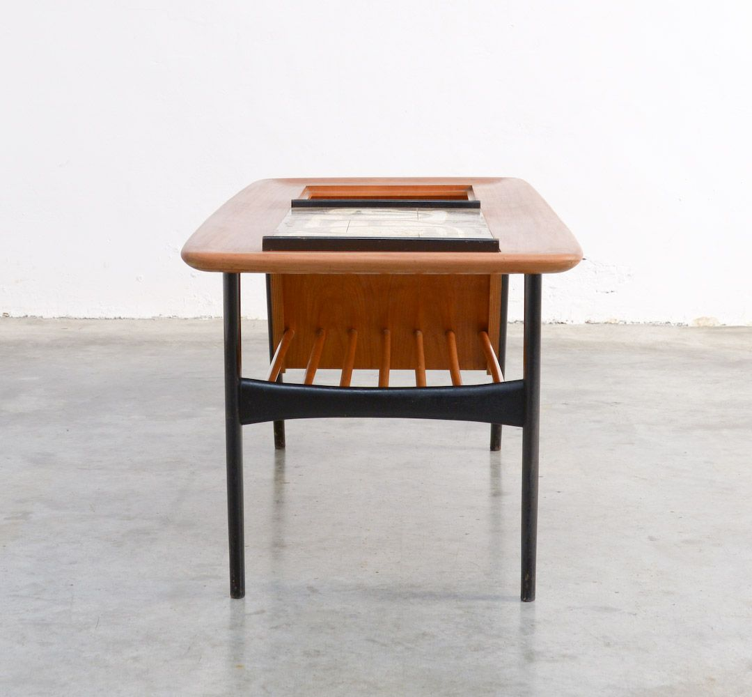 Mid century bar table by alfred hendrickx for belform for Mid century bistro table