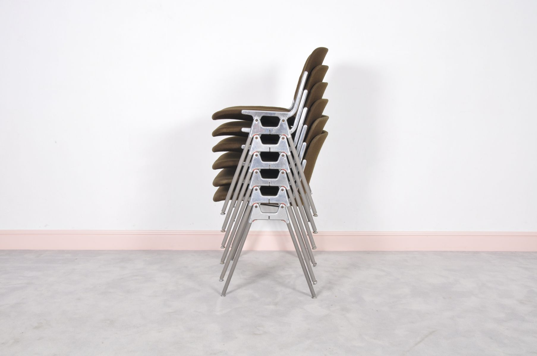 Vintage DSC 106 Stacking Chair by Giancarlo Piretti for Castelli