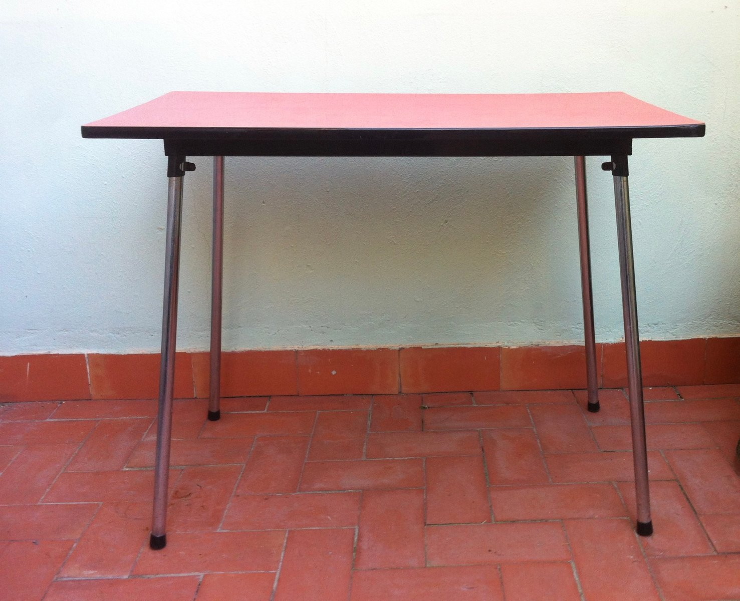 Belgian red formica dining table 1960s for sale at pamono for Formica table