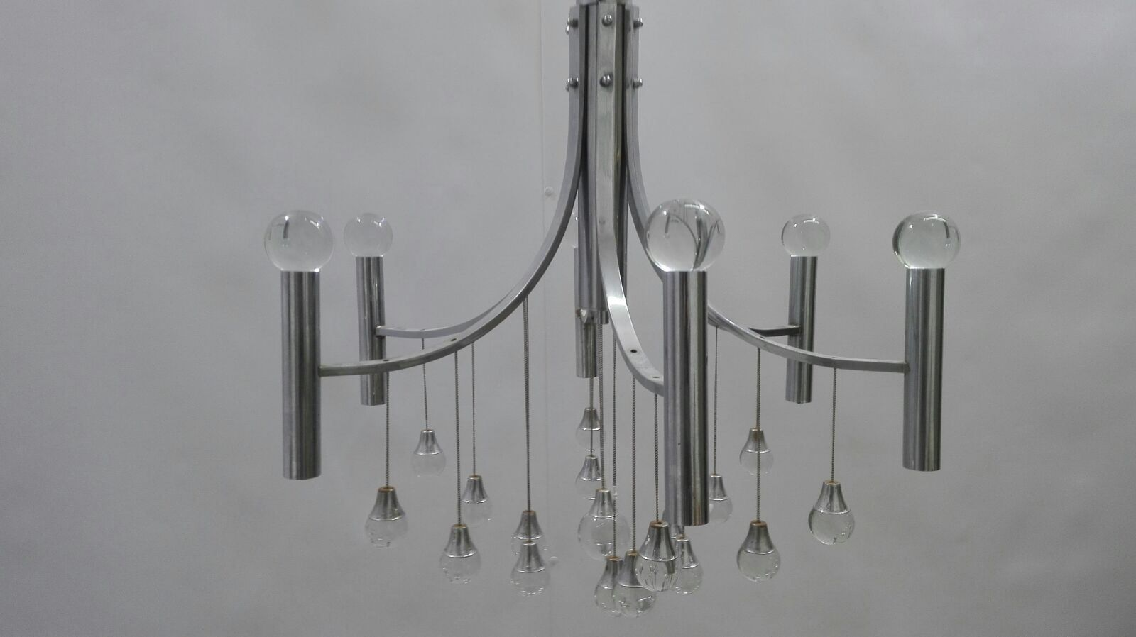 mid century kronleuchter mit sechs lampen bei pamono kaufen. Black Bedroom Furniture Sets. Home Design Ideas