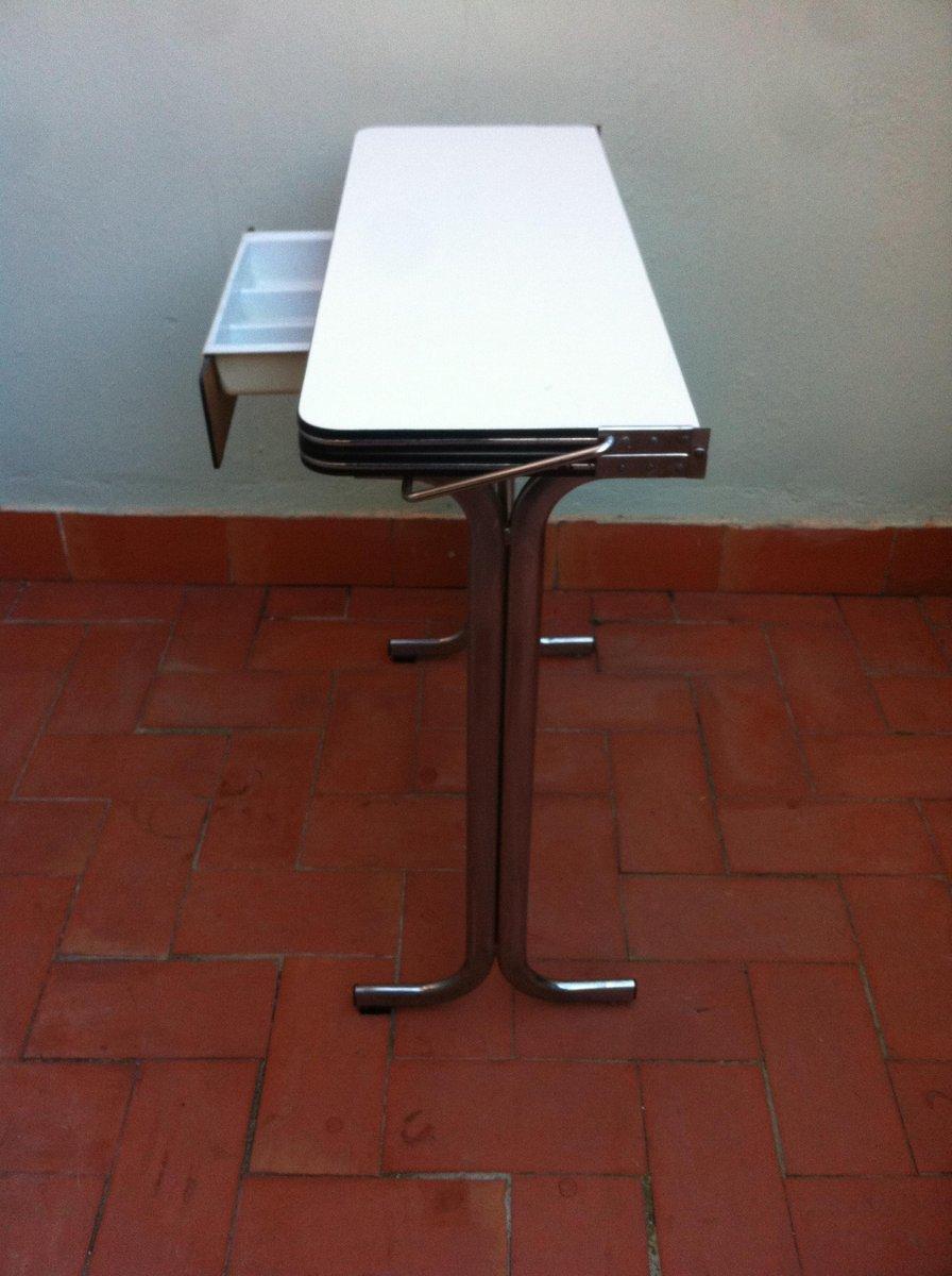 Table de Cuisine Pliable avec Tiroir en Formica Belgique