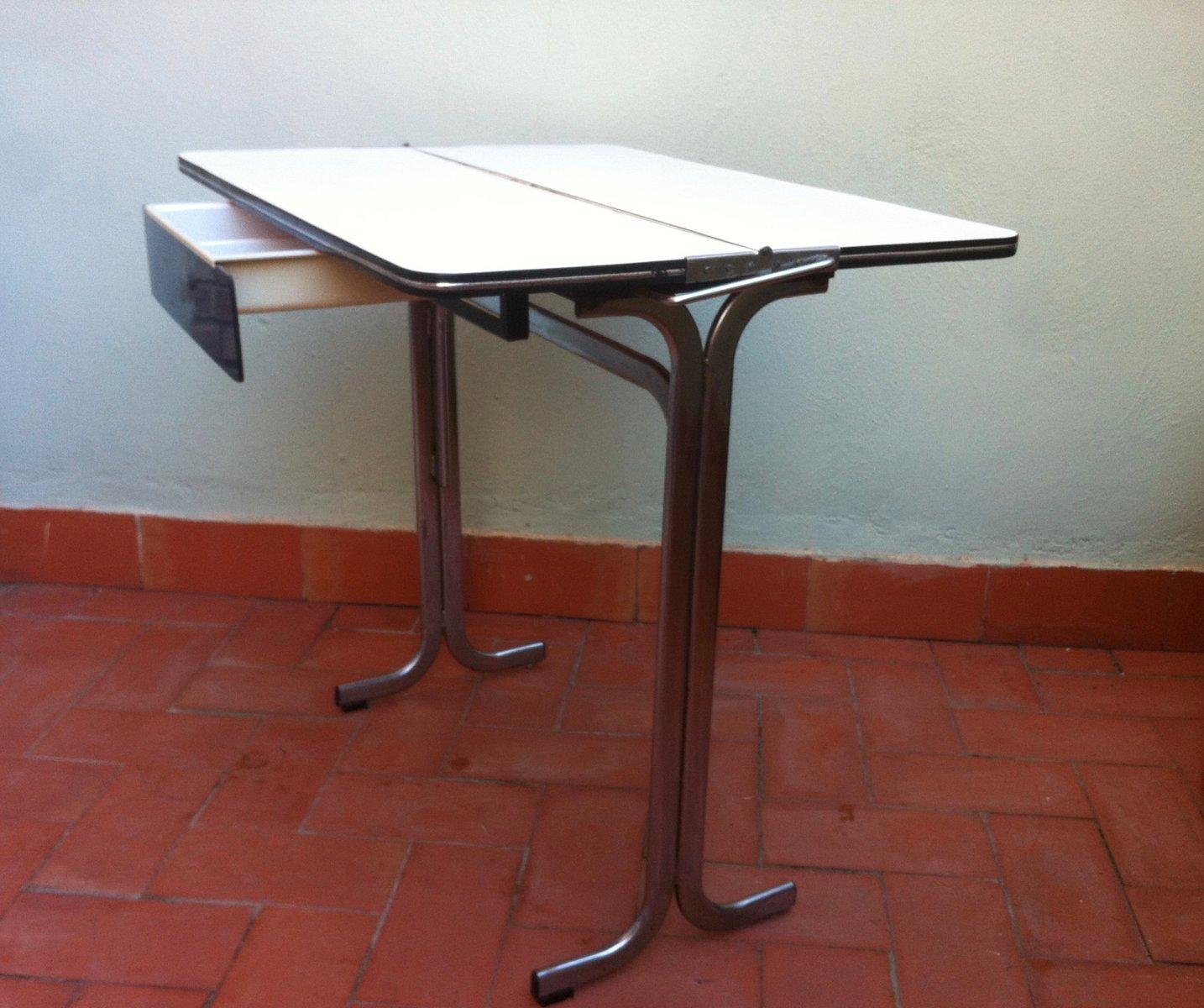 Table de cuisine pliable avec tiroir en formica belgique for Table avec tiroir cuisine