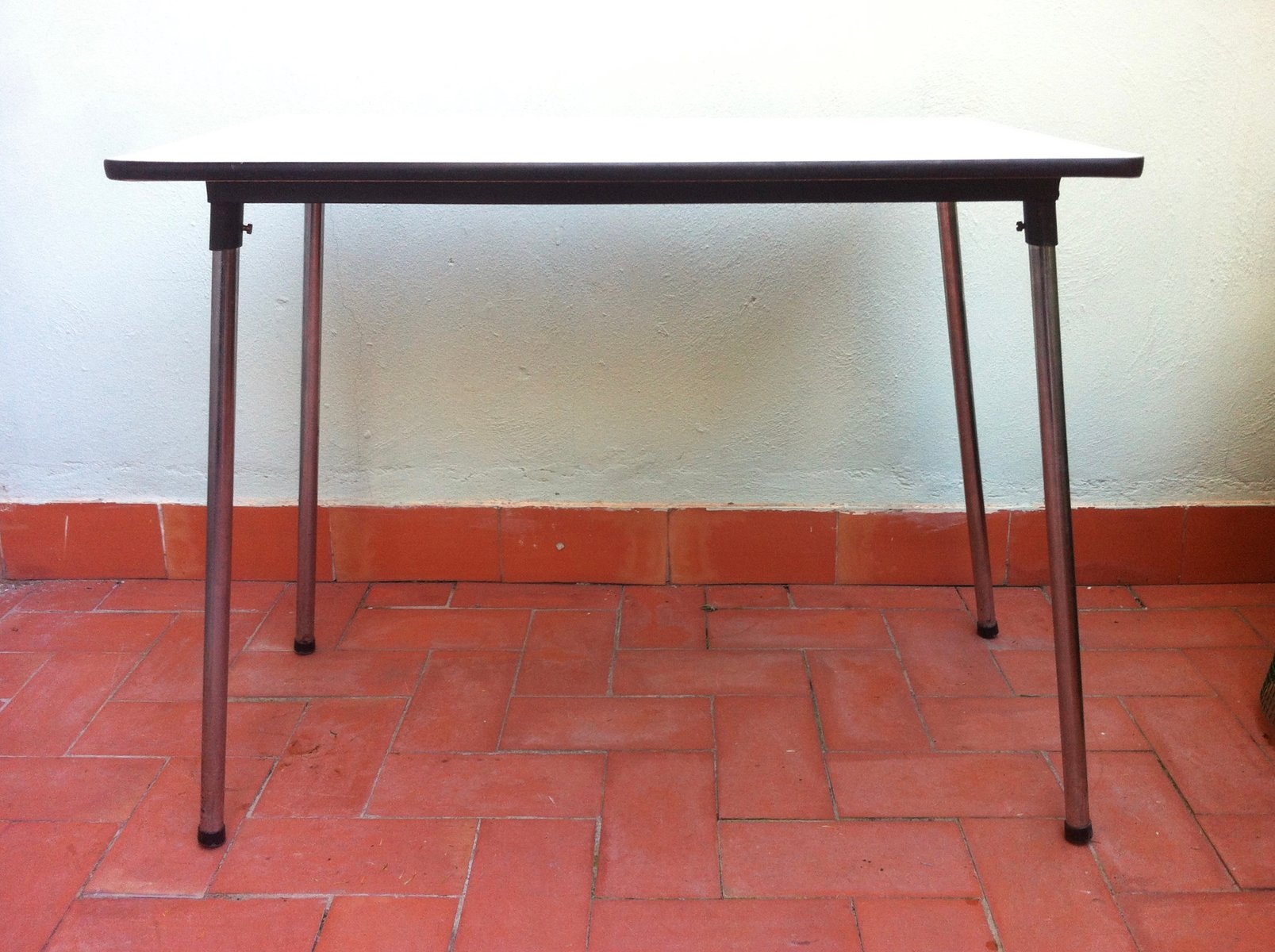 Belgian formica folding kitchen table 1960s for sale at pamono - Formica top kitchen table ...