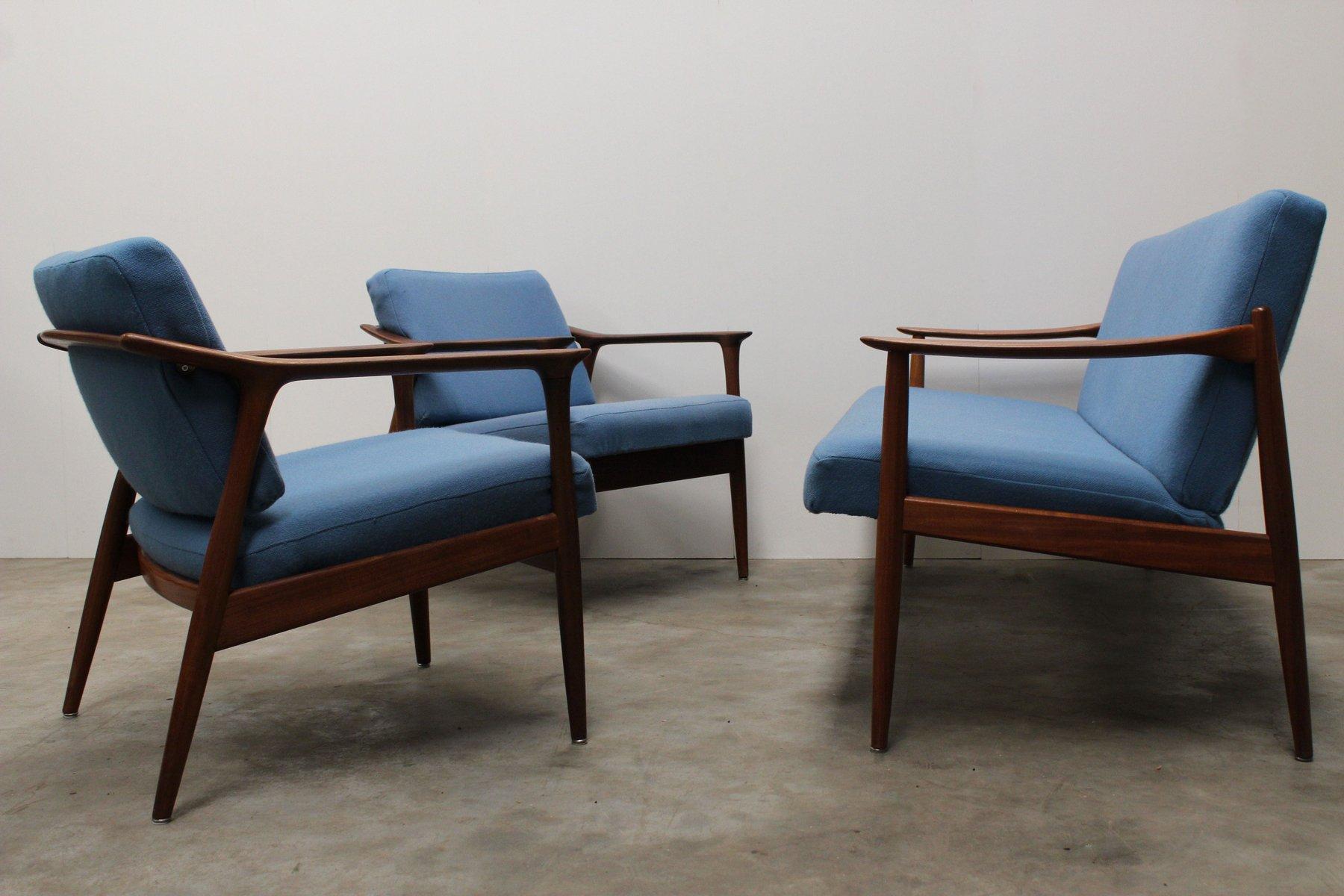 mid century danish living room set by torbj rn afdal for sandvik mobler 1950s for sale at pamono. Black Bedroom Furniture Sets. Home Design Ideas