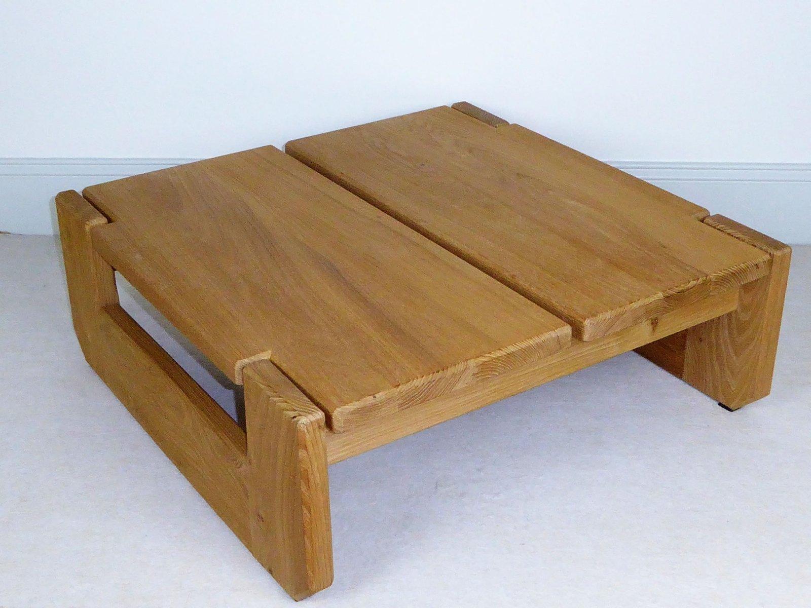 table basse vintage en orme massif de regain furniture france 1960s en vente sur pamono. Black Bedroom Furniture Sets. Home Design Ideas