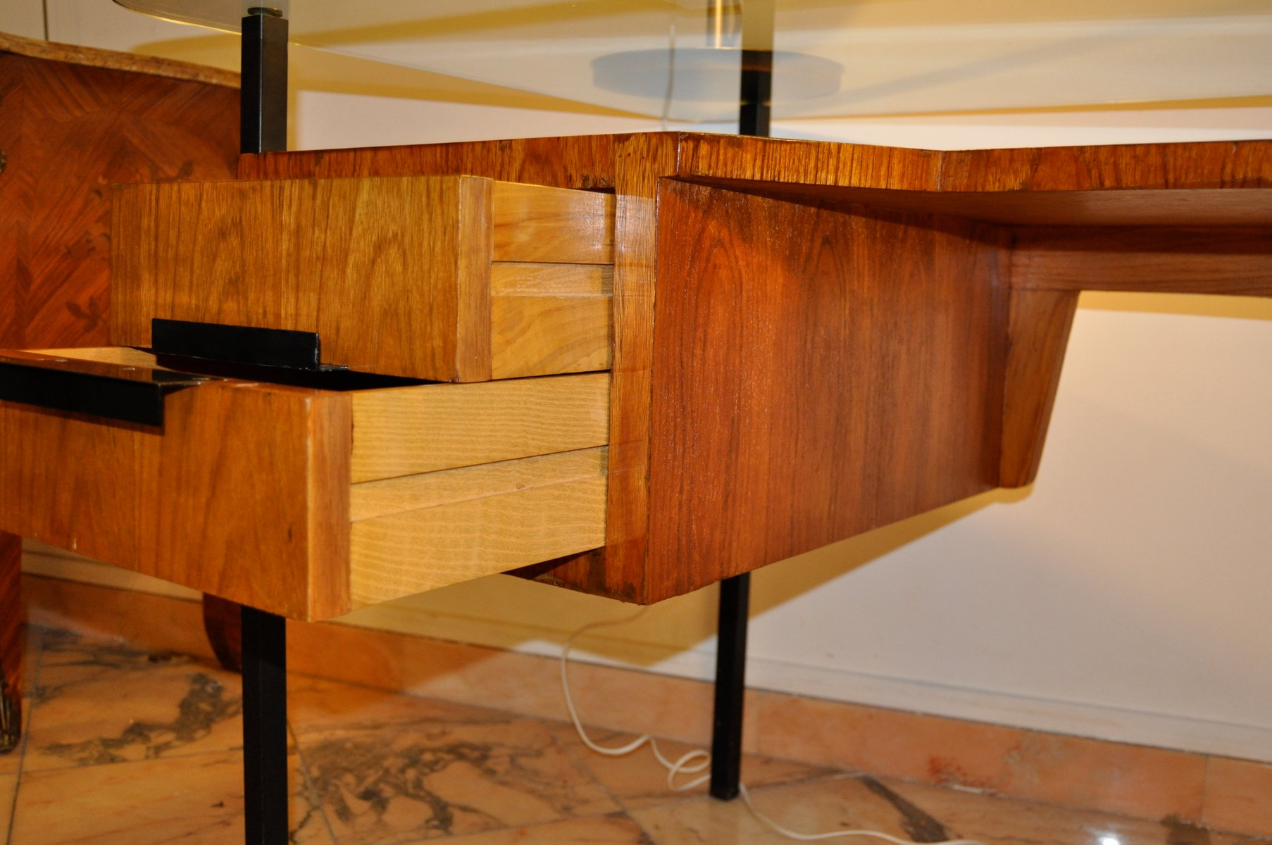 mid century desk by j hitier for la meridienne 1950s for. Black Bedroom Furniture Sets. Home Design Ideas