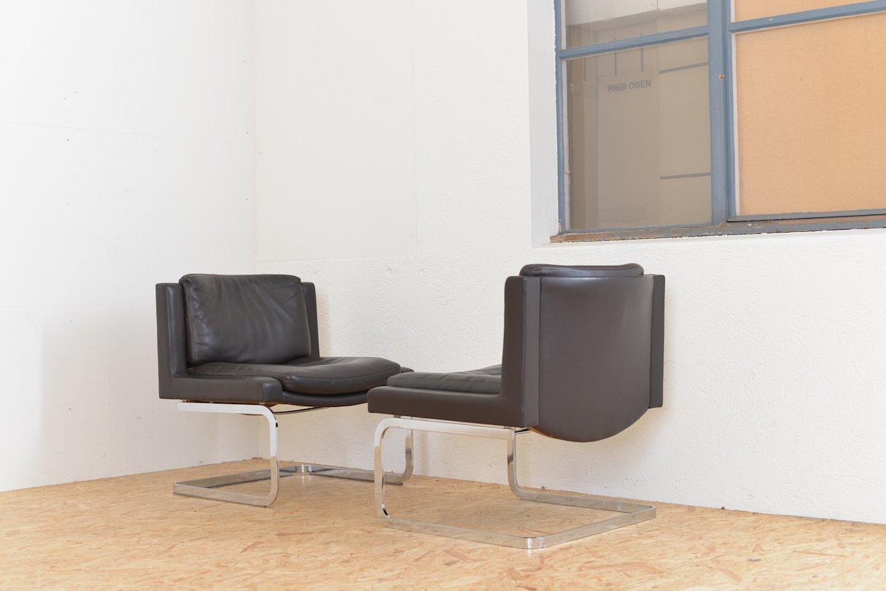 vintage ds 201 1 freischwinger sessel von de sede bei pamono kaufen. Black Bedroom Furniture Sets. Home Design Ideas