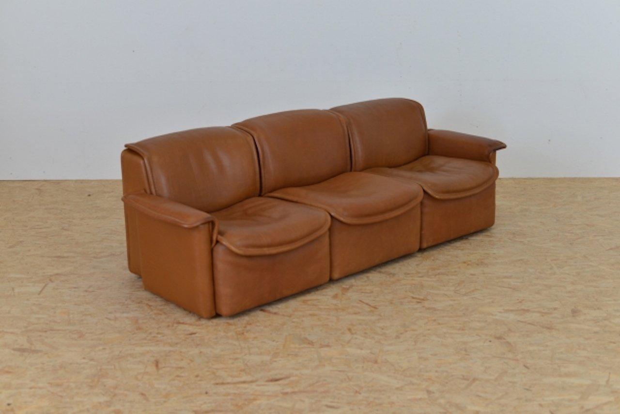 vintage ds12 sofa set from de sede set of 3 for sale at pamono. Black Bedroom Furniture Sets. Home Design Ideas