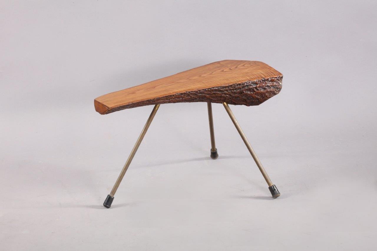 wiener mid century baumstamm couchtisch von carl aub ck. Black Bedroom Furniture Sets. Home Design Ideas