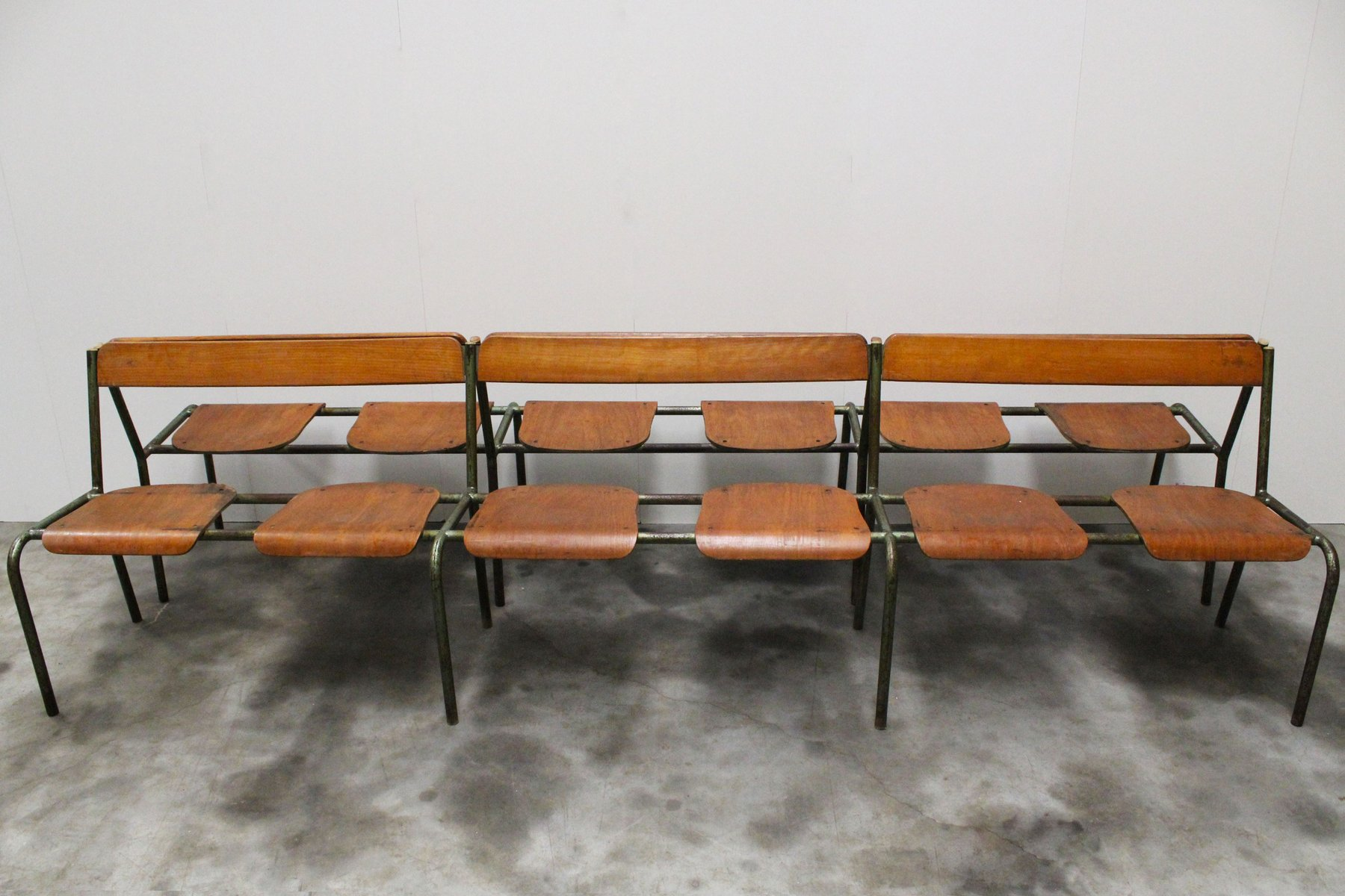 Large French Industrial Bench From Mullca 1950s For Sale At Pamono