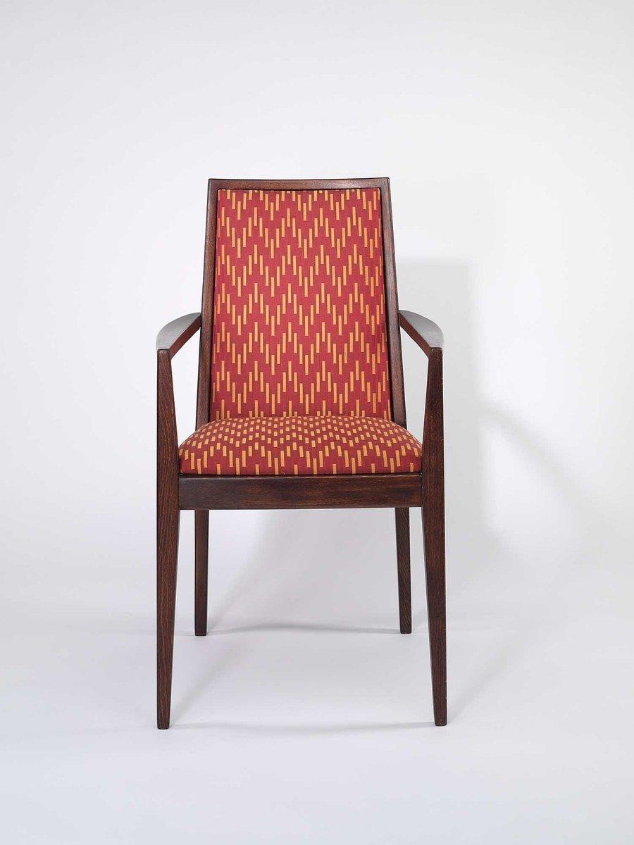 sessel mit rotem stoffbezug von wiesner hager 1958 bei pamono kaufen. Black Bedroom Furniture Sets. Home Design Ideas