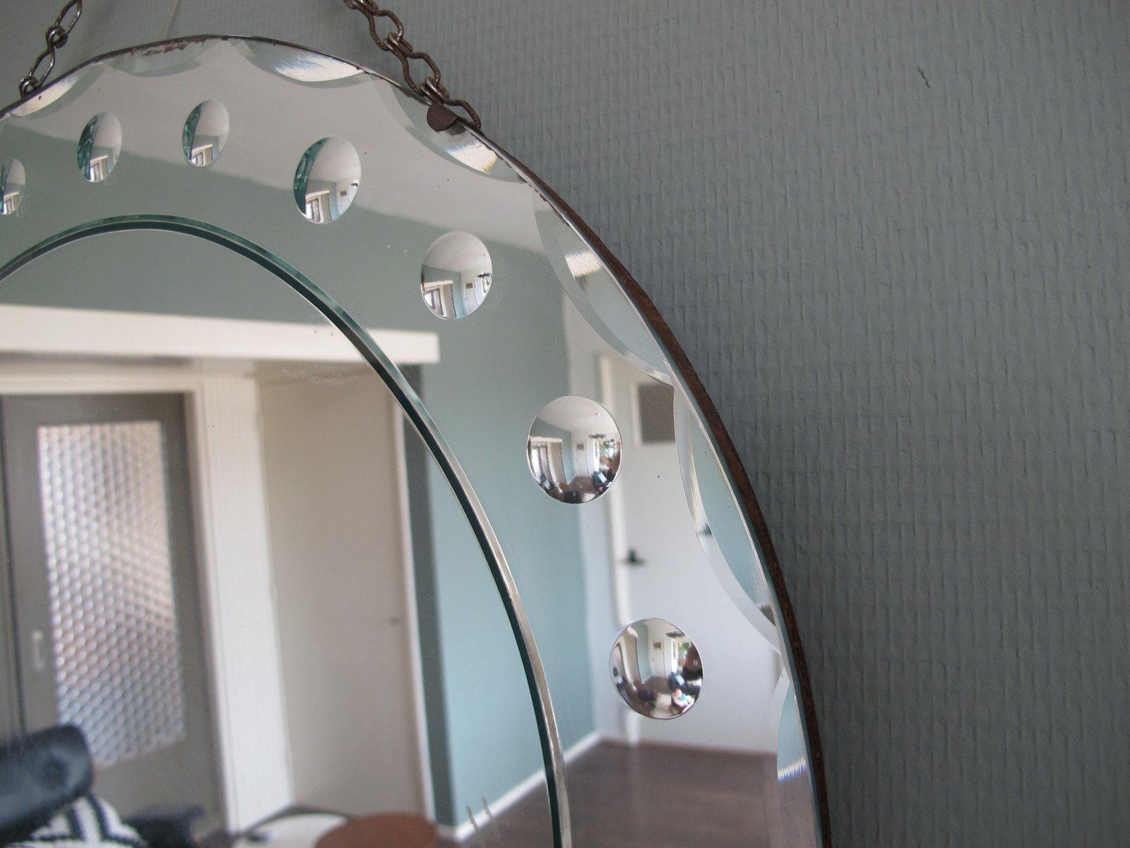 Gro Er Runder Spiegel runder venezianischer spiegel 1950er bei pamono kaufen
