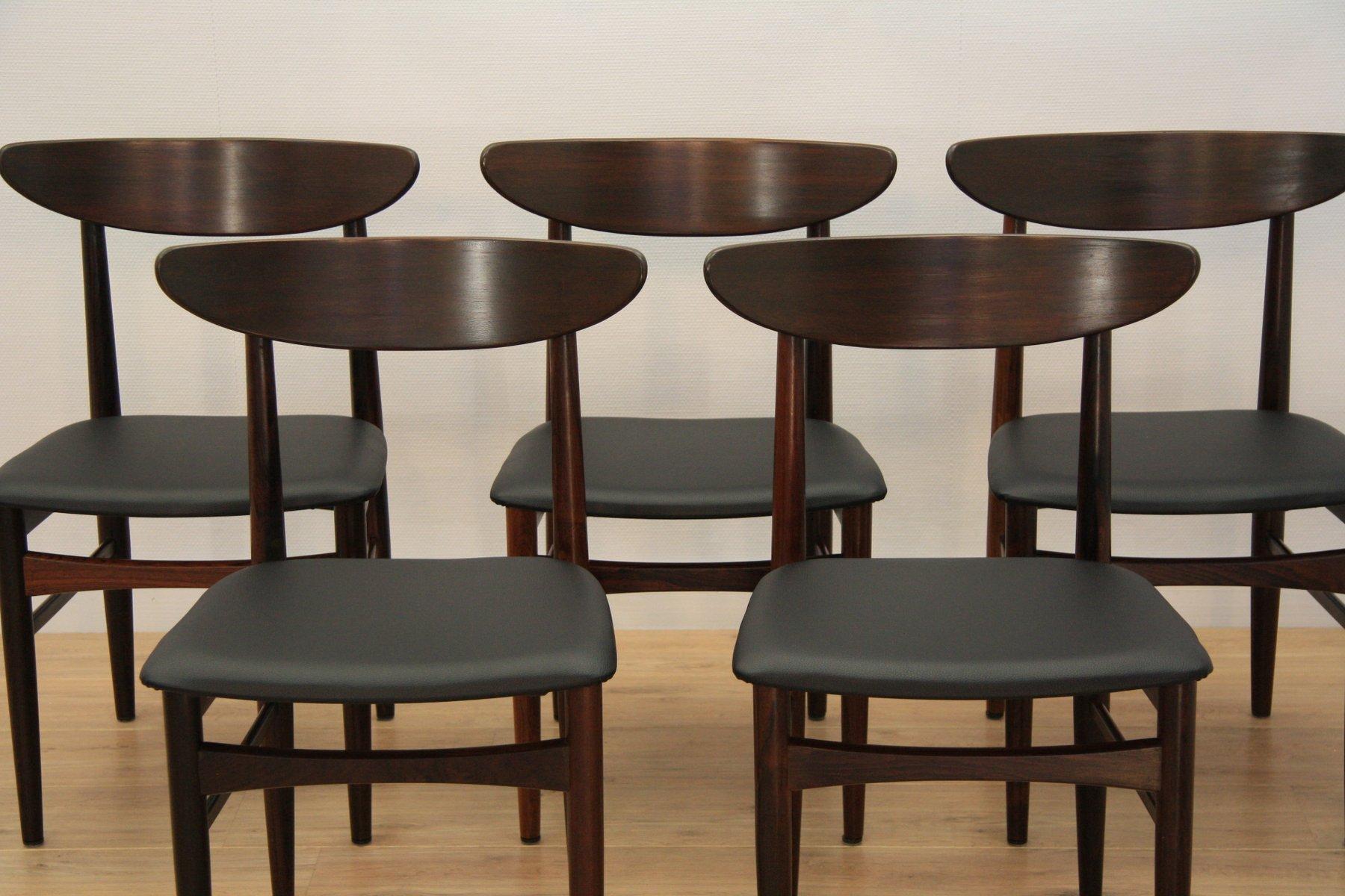 Danish Dining Chairs From Skovby Mobelfabrik, 1960s, Set Of 5