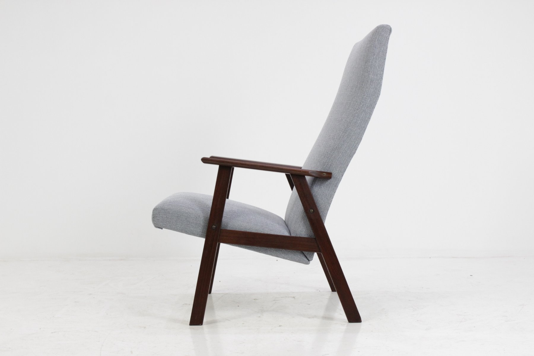 Danish Highback Teak Easy Chair 1960s for sale at Pamono