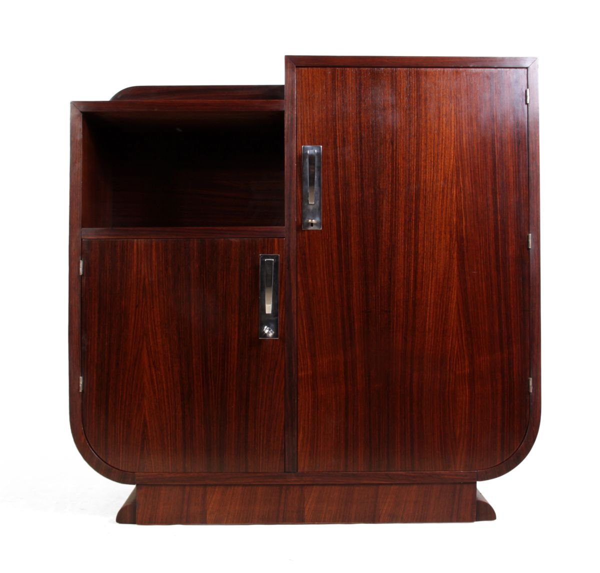 Art deco rosewood side cabinet 1930s for sale at pamono for Meuble art deco 1930