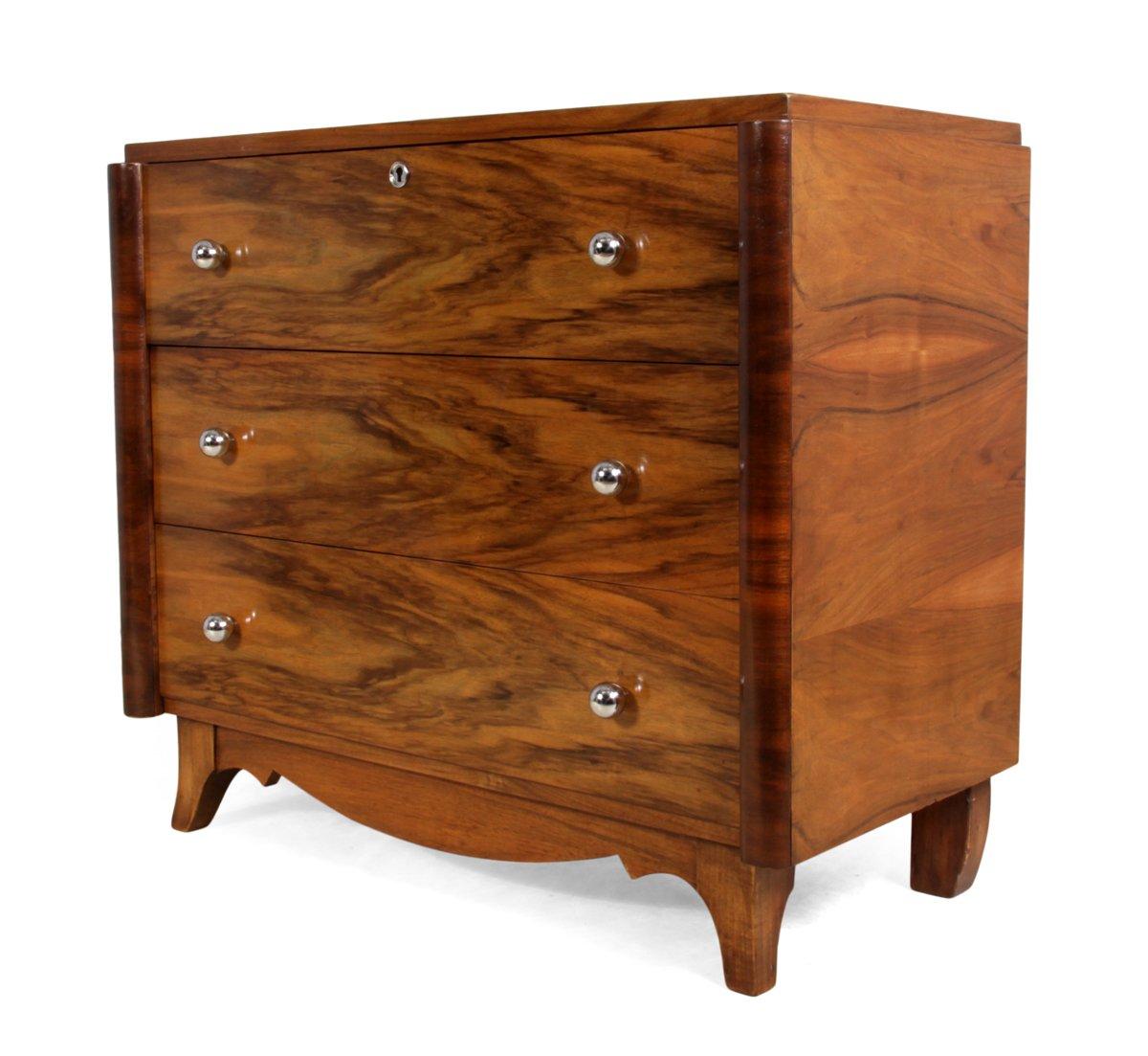 commode art d co en noyer france 1930s en vente sur pamono. Black Bedroom Furniture Sets. Home Design Ideas