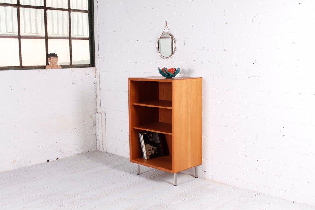 tiefes teak regalsystem 1960er bei pamono kaufen. Black Bedroom Furniture Sets. Home Design Ideas
