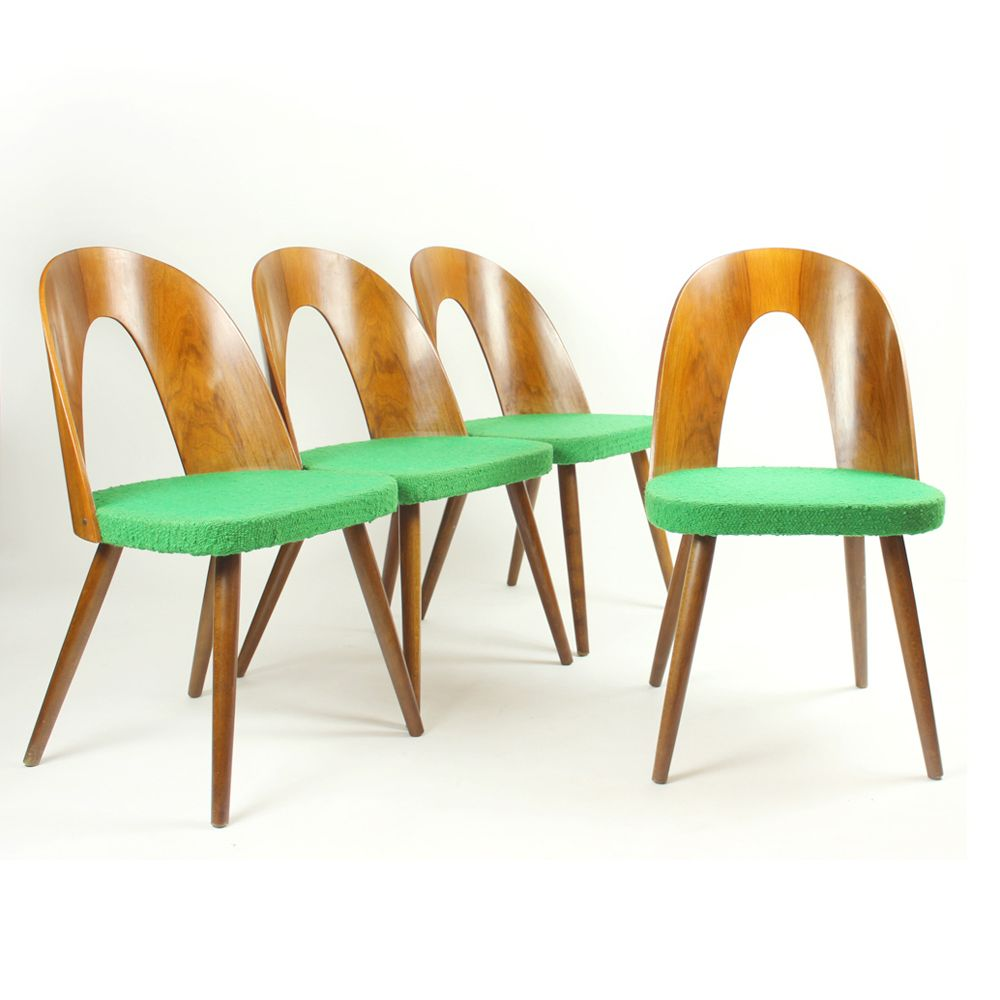 vintage dining chairs by anton n uman for tatra 1960s set of
