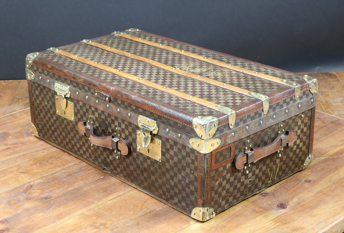 antique french travel trunk from moynat 1910 for sale at. Black Bedroom Furniture Sets. Home Design Ideas