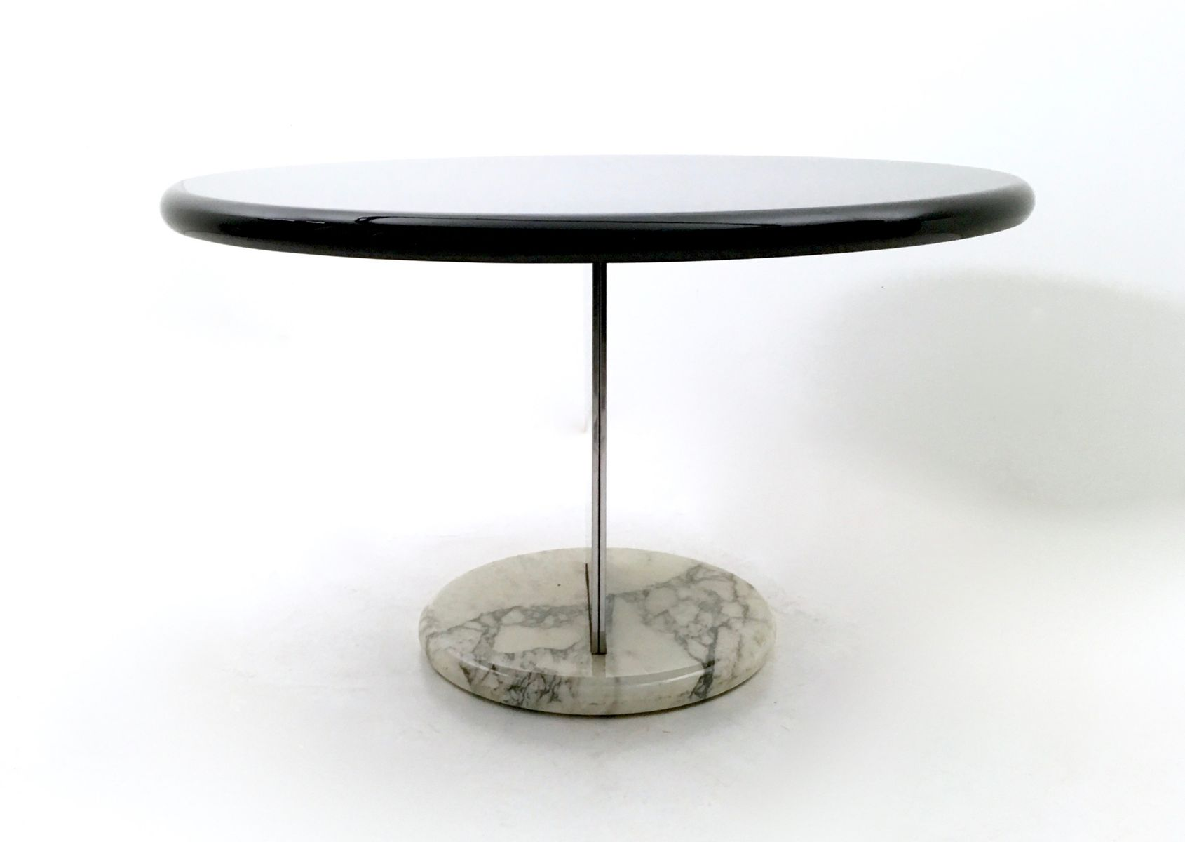 Italian Vintage Carrara Marble Base Dining Table 1970s for sale