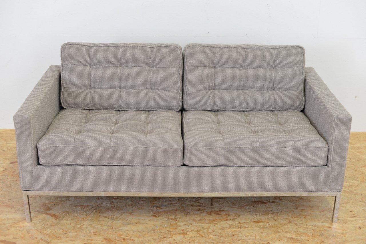 zwei sitzer mid century sofa von florence knoll f r knoll bei pamono kaufen. Black Bedroom Furniture Sets. Home Design Ideas