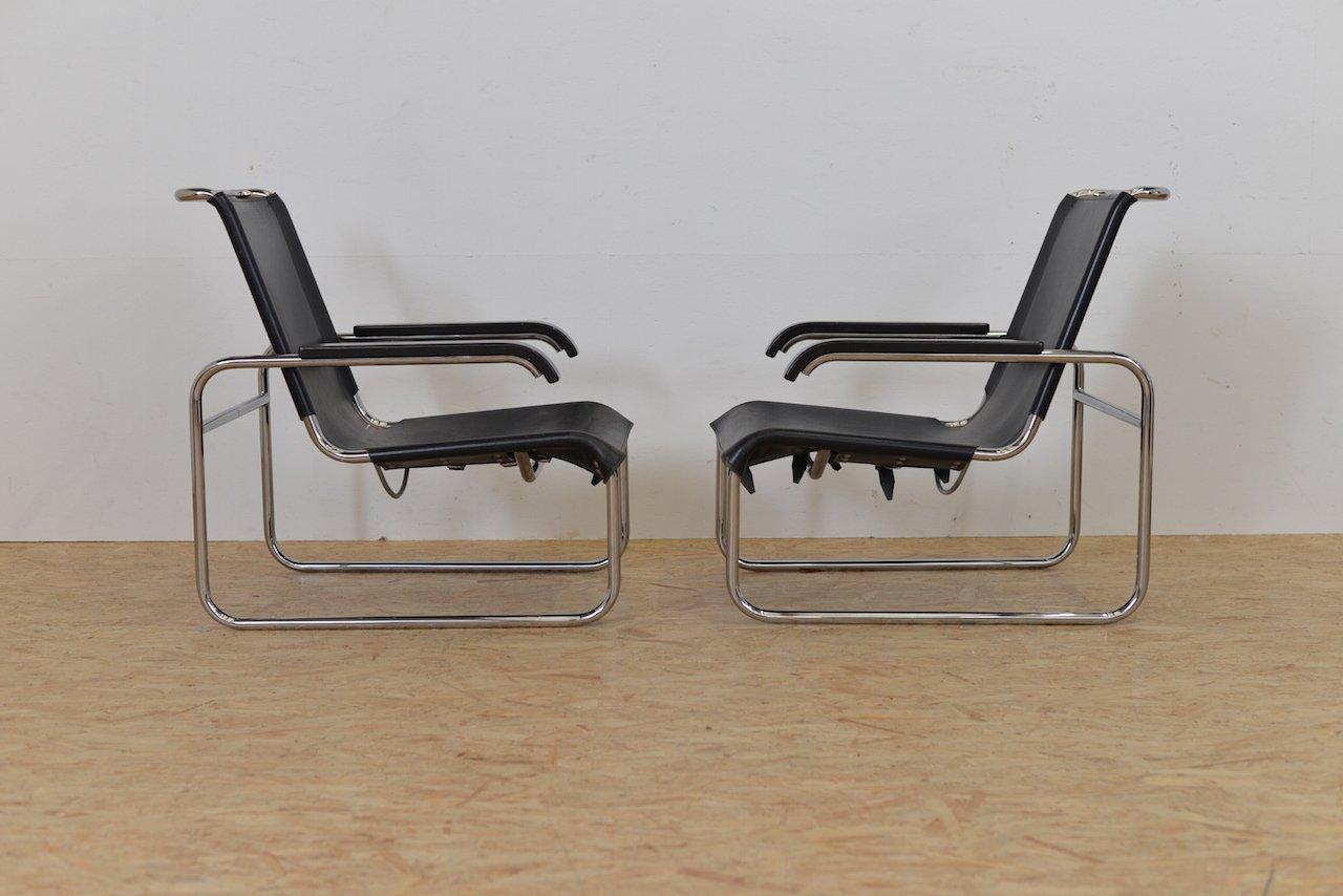 Vintage sitzmaschine b35 stuhl von marcel breuer f r for Marcel breuer stuhl nachbau