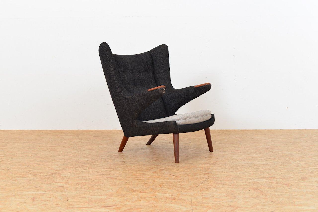 chaise vintage papa bear par hans j wegner pour ap stoelen en vente sur pamono. Black Bedroom Furniture Sets. Home Design Ideas
