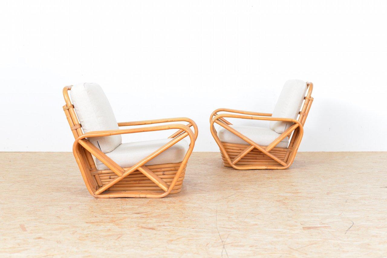 fauteuils lounge vintage en bambou set de 2 en vente sur pamono. Black Bedroom Furniture Sets. Home Design Ideas