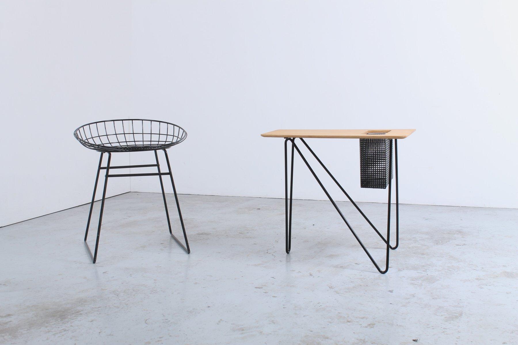 vintage combex series beistelltisch mit zeitungsst nder von cees braakman f r pastoe bei pamono. Black Bedroom Furniture Sets. Home Design Ideas