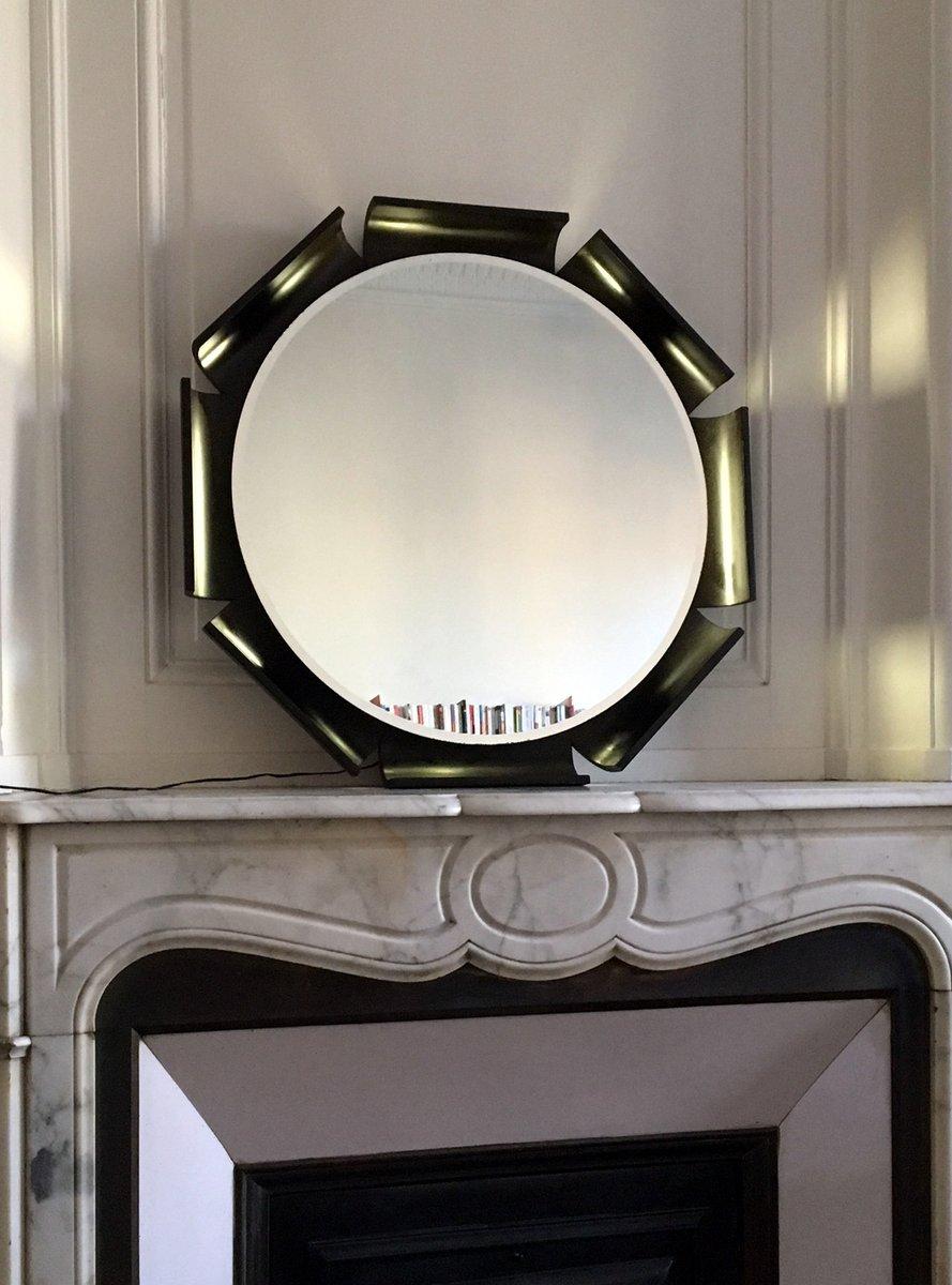 italienischer beleuchteter spiegel von isa 1960er bei. Black Bedroom Furniture Sets. Home Design Ideas