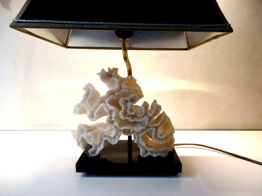 Coral Table Lamp from Maison Charles, 1970s for sale at Pamono