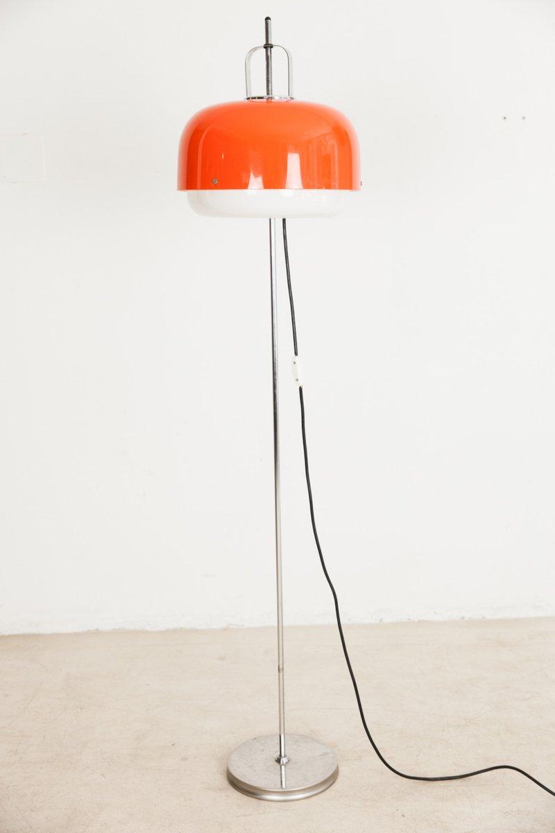 Orange floor lamp - Orange Floor Lamp By Harvey Guzzini For Meblo 1960s