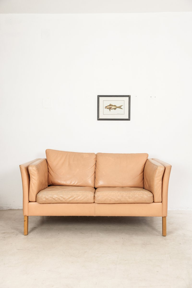 Mid Century Danish Leather Sofa For Sale At Pamono
