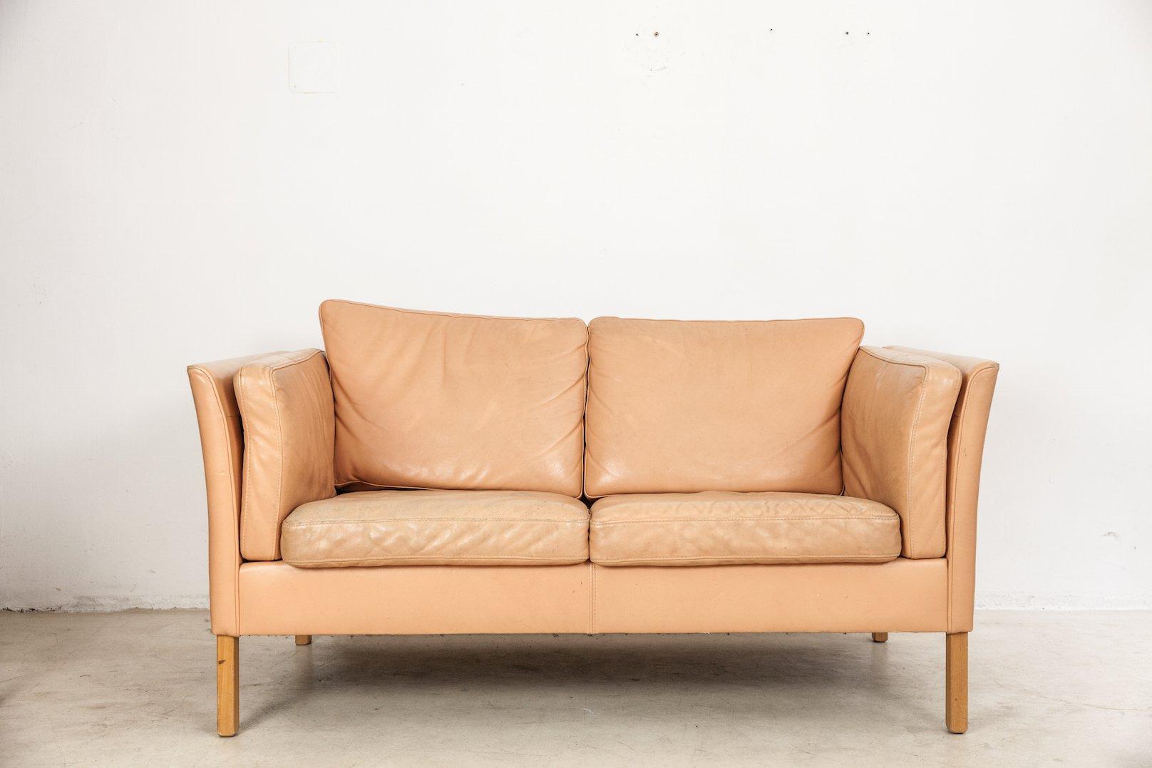 Mid Century Danish Leather Sofa