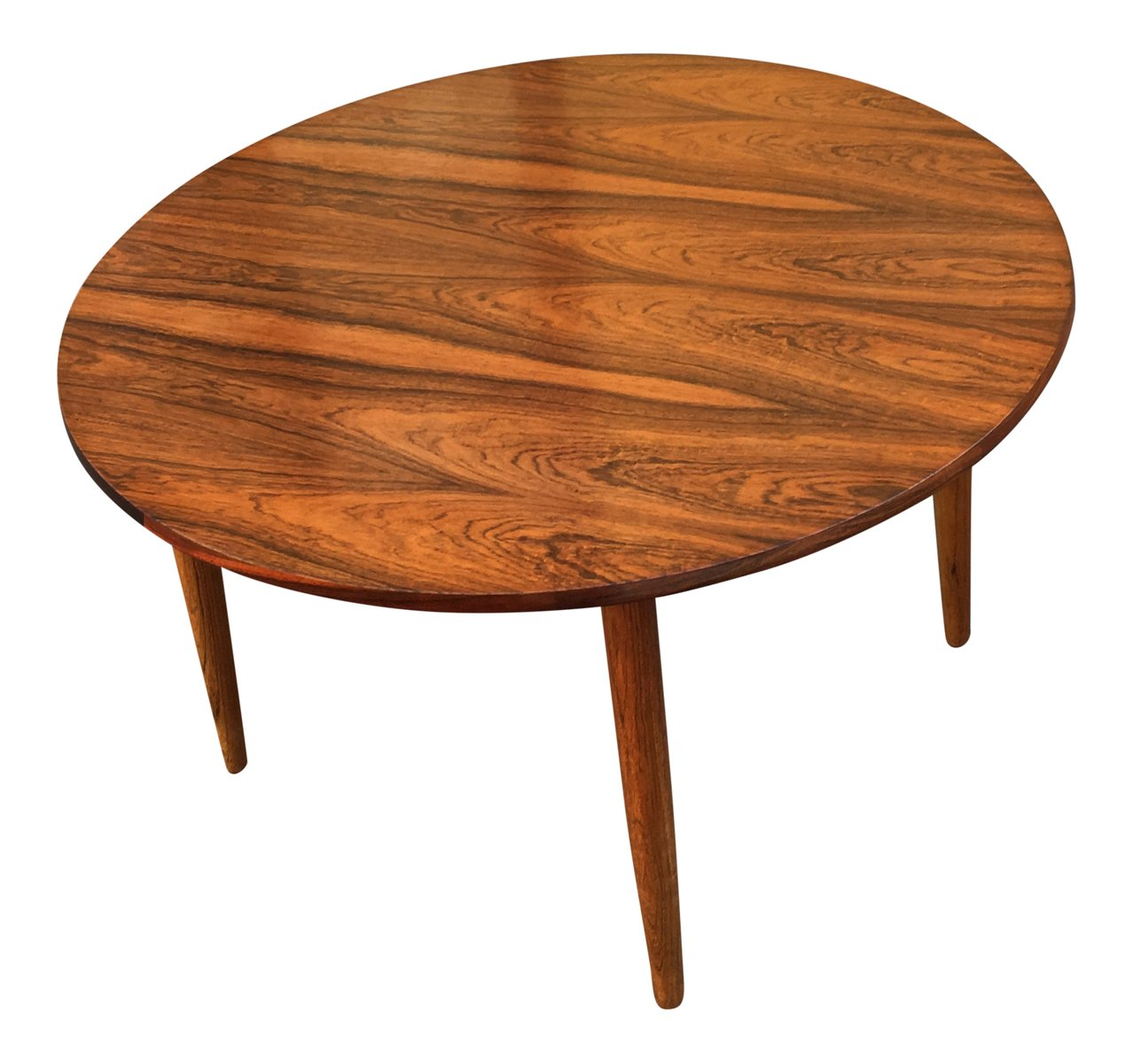 mid century round rosewood coffee table for sale at pamono. Black Bedroom Furniture Sets. Home Design Ideas